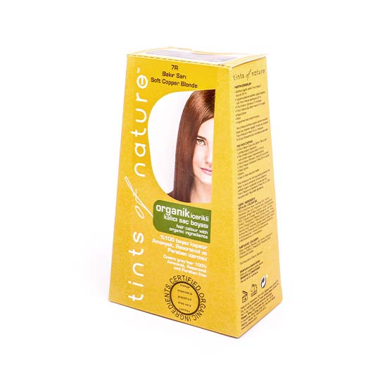 Organik Saç Boyası - 7R Bakır Sarı